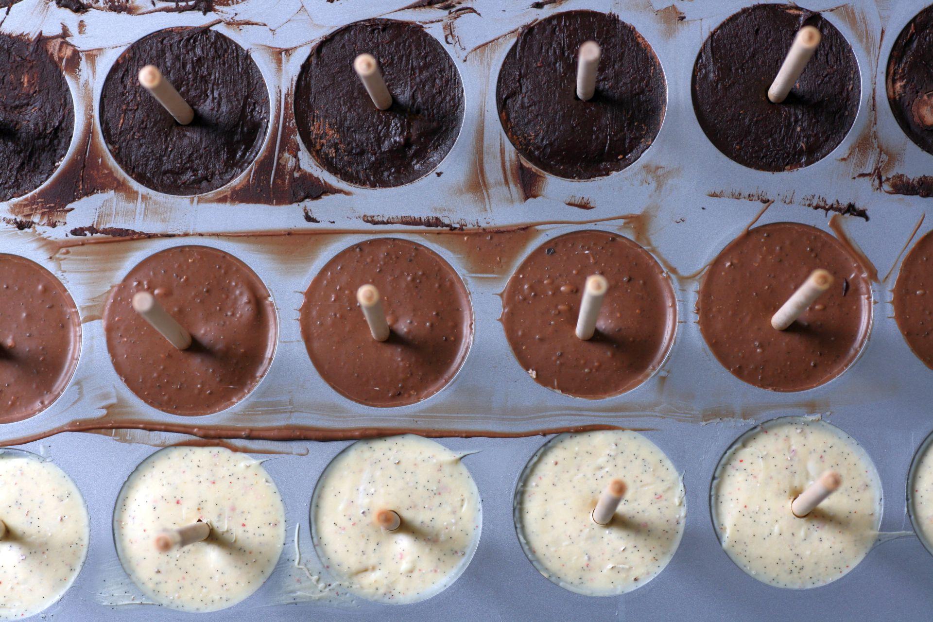 heiße Schokolade, Orange, Ingwer, Zartbitter Schokolade, weiße Schokolade, Kardamom, Sahne, Kaffee, Trinkschoki, Schokolollis