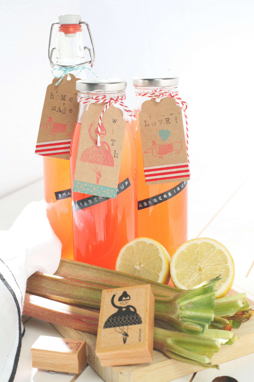 Rhabarbersirup Rezept, Limonade, Frühling
