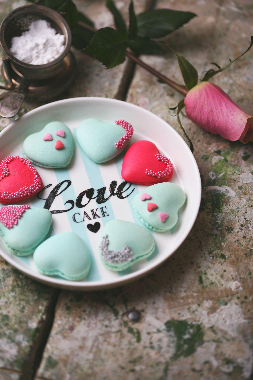 Herz Macarons Rezept zum Valentinstag