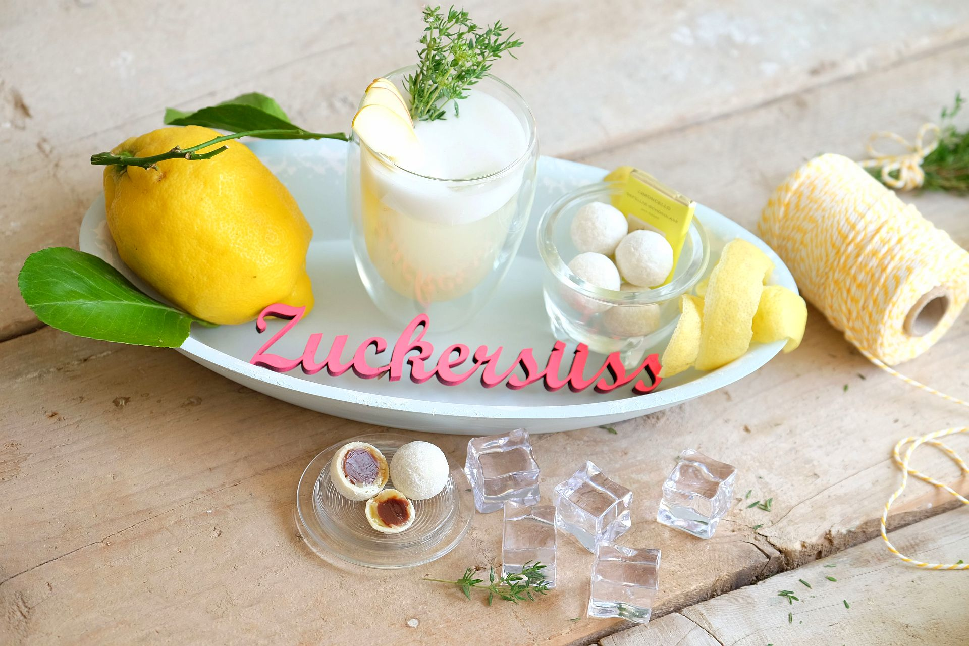 Roasted Thym Limoncello Sour und Limoncello Trüffel Lauenstein