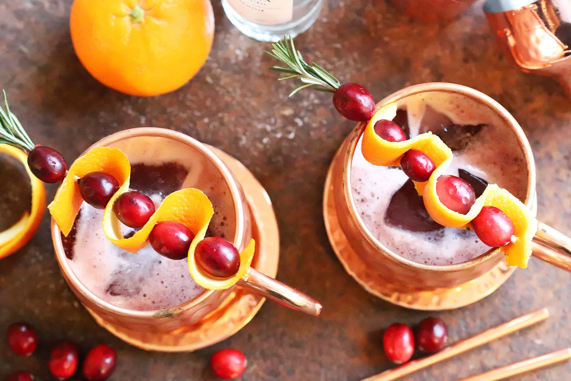 easy peasy rezept f r graue wintertage pink orange moscow mule. Black Bedroom Furniture Sets. Home Design Ideas