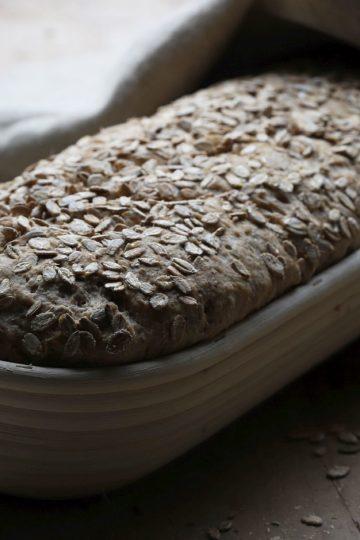 Roggen-Malz Brot mit Sauerteig