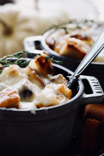original französische Zwiebelsuppe