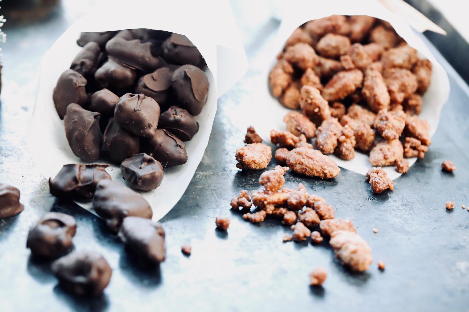 Gebrannte Mandeln mit Zartbitterschokolade