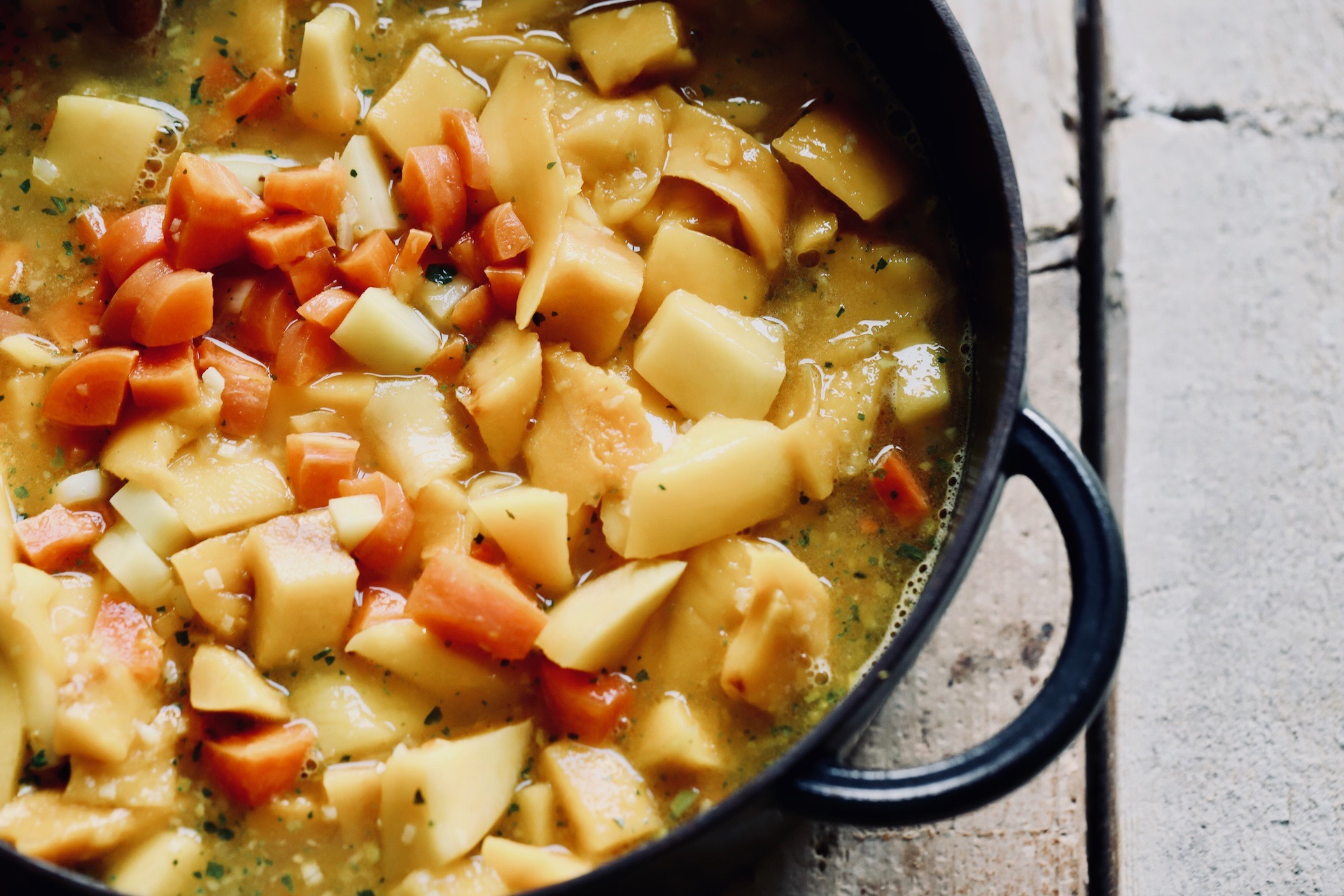 Mango-Karotten Suppe mit Ingwer