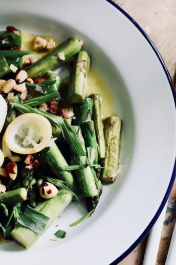 grünenSpargel Salat mit Eiund Estragon