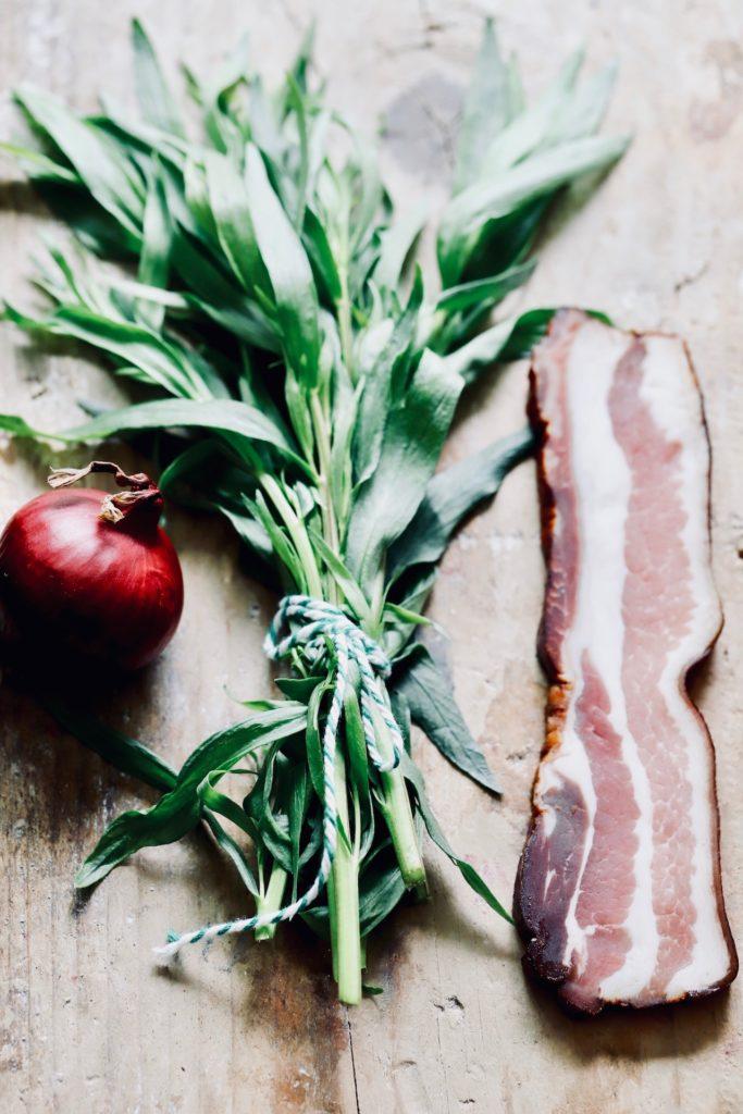 grünerSpargel Salat mit Eiund Estragon